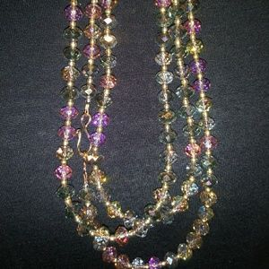 """Jewelry - Long Crystal Necklace (50"""")"""
